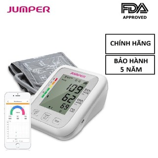 [BH 5 Năm] Máy đo huyết áp omron điện tử bắp tay Jumper JPD-HA120, Kết nối Bluetooth + APP, (FDA Hoa Kỳ + xuất thumbnail