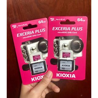 Thẻ nhớ MicroSDXC Kioxia Exceria Plus 64GB U3 4K V30 A1 R100MB/s W65MB/s
