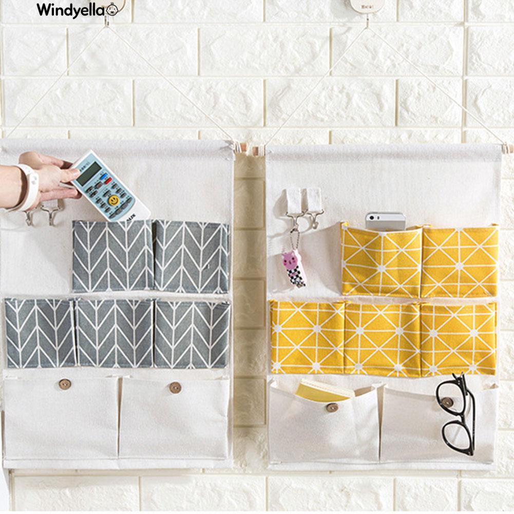 >>Door Wall Hanging Holder 7 Pocket Classified Storage Bag
