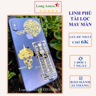 Miếng dán điện thoại combo 4 miếng - lá may mắn tài lộc, may mắn, tình duyên, thần tài, phong thủy thumbnail
