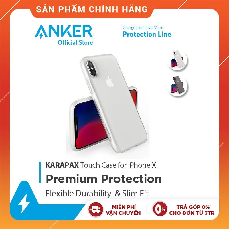 [Mã ELMTPK hoàn 20K Xu đơn 300K] Ốp Lưng ANKER Karapax Touch iPhone X - A9004