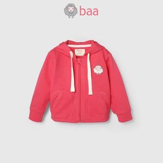 Áo khoác có nón BAA BABY thêu logo cừu cho bé gái - GT-AK04D