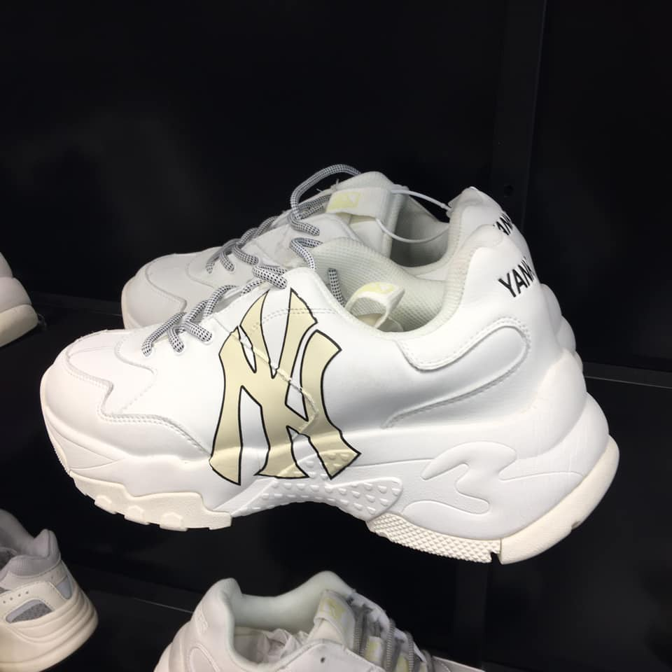 Giày MLB NY chữ vàng Nam/Nữ 1.1