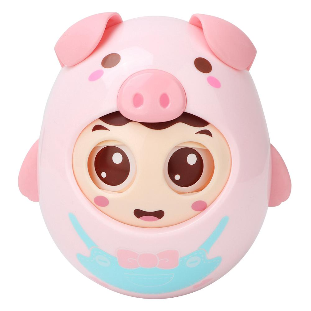 Eyes with Pig Baby Kids Gift Baby Tumbler Blinking Toy Roly-poly Toys