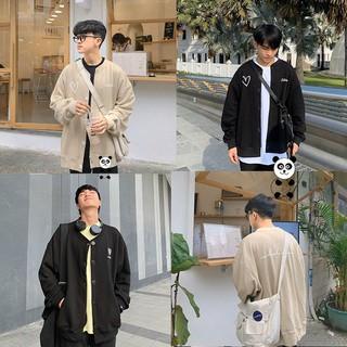 Áo khoác cardigan nam form rộng có nút chất liệu nỉ giữ ấm hay chống nắng thời trang thu đông