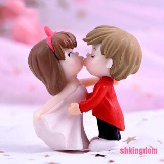 [LOLL] Romantic Couples DIY Miniature Figurine Garden Dollhouse Decor Micro Landscape POO