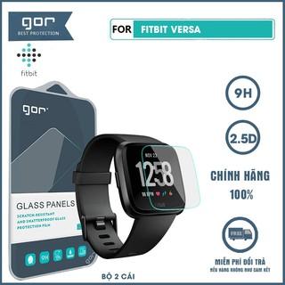 Kính cường lực đồng hồ Fitbit Versa chính hãng Gor trong suốt full màn hình bộ 2 chiếc