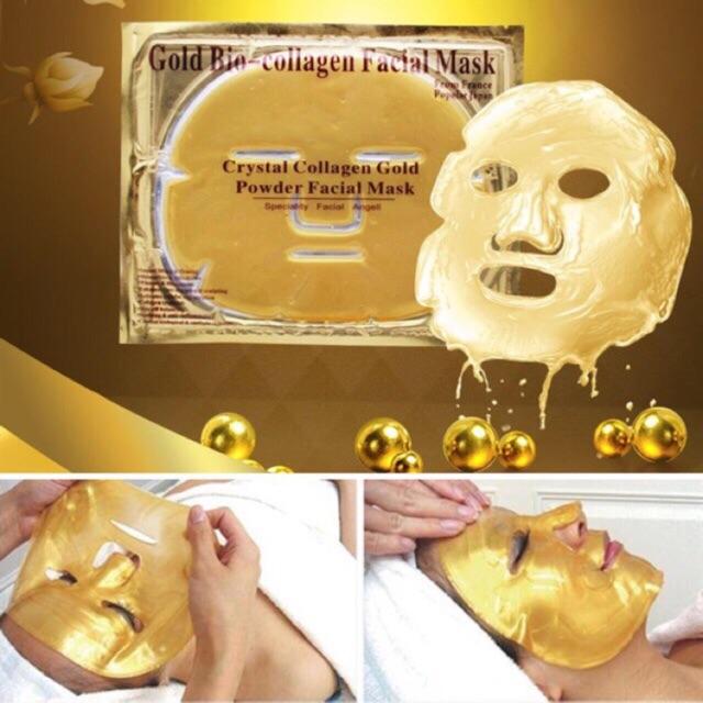 Mặt nạ mặt collagen vàng trắng
