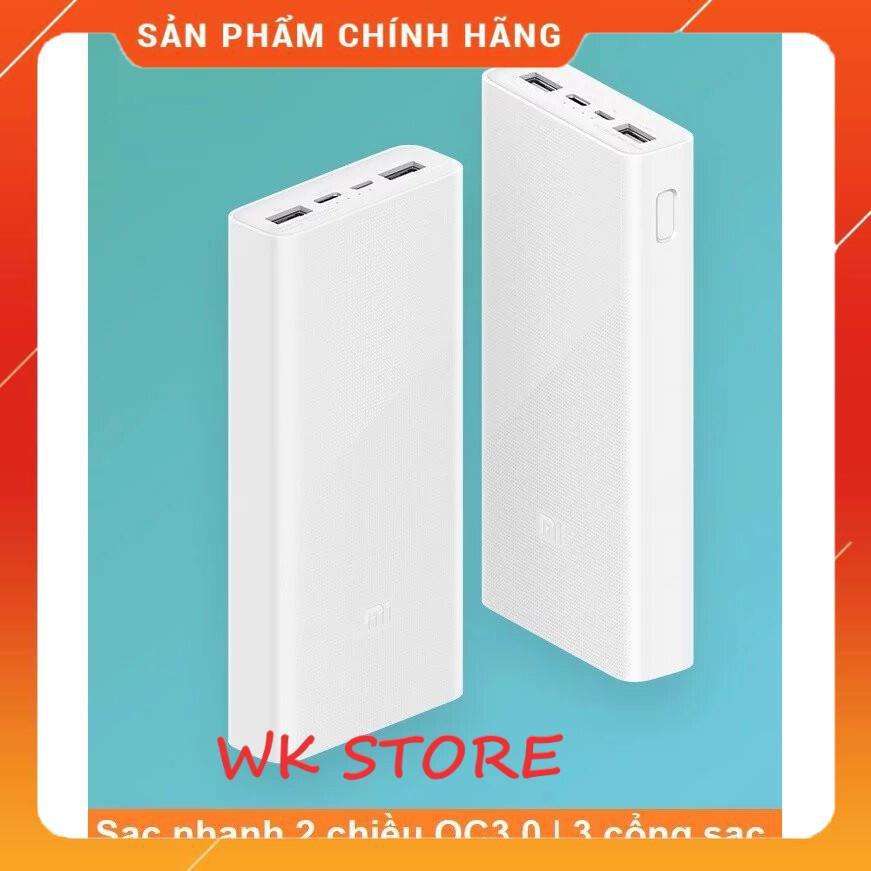 Sạc dự phòng Xiaomi gen 3 20.000 mAh hàng chính hãng,BH 1 năm