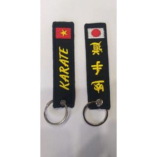 Móc khóa Karate Vải thêu vi tính Lưu Niệm Móc Khóa Lưu Niệm Ailaikit