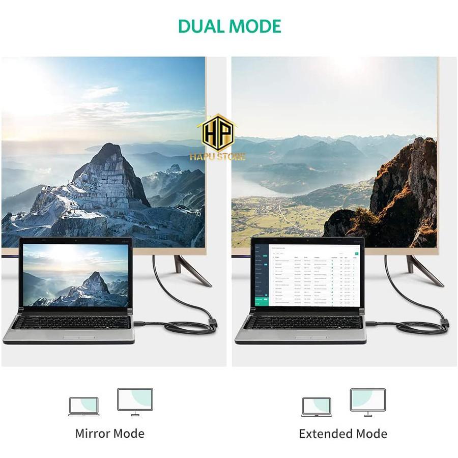 Cáp HDMI nối dài 0.5m Ugreen 10140 màu đen chính hãng - Hapustore