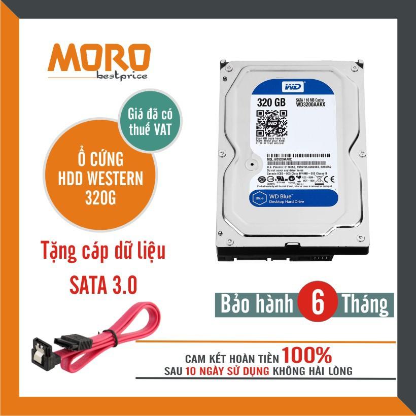 Ổ cứng PC HDD WD 250GB--320GB--500GB - Tháo máy đồng bộ nhập khẩu mới 99% - Bảo hành 6 tháng 1 đổi 1