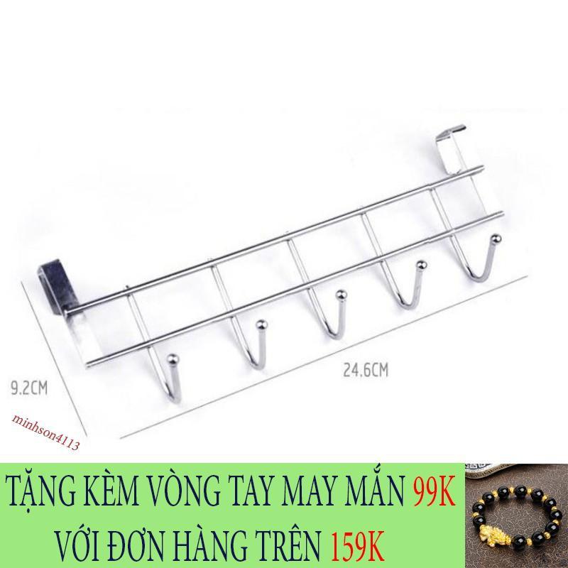 [SIÊU CHẤT LƯỢNG] Móc inox 5 móc gài cánh tủ thiết kế độc đáo