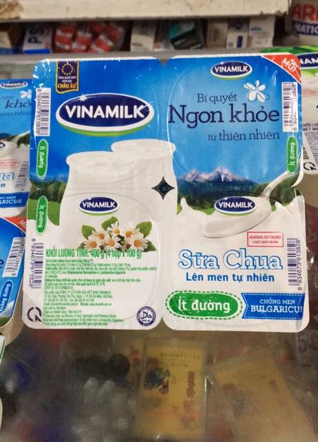 Sữa Chua Vinamilk Lốc 4 hộp x100g (Nhận đơn qua Grab/Nowship)