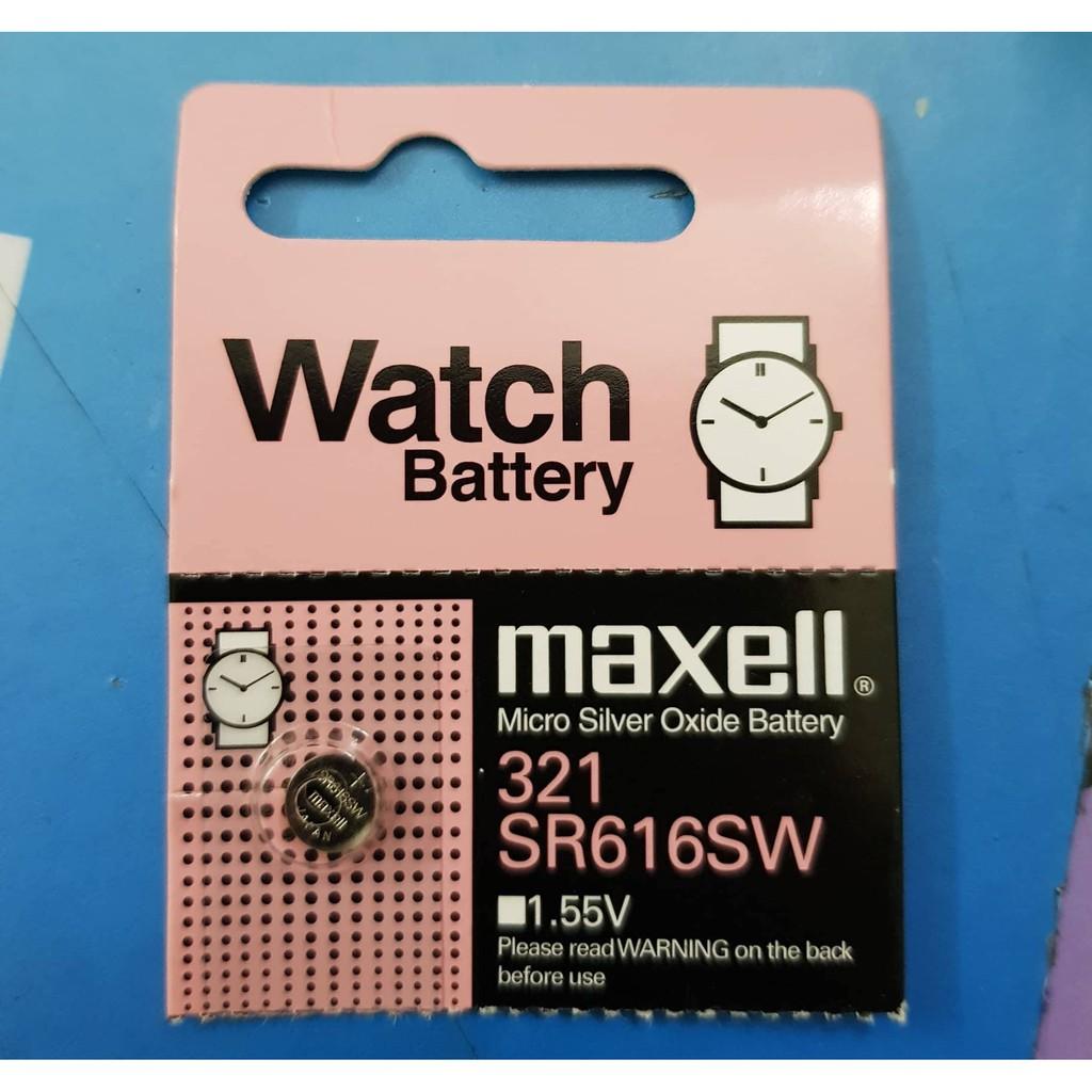 Pin đồng hồ SR616SW SR616 321 Maxell Chính Hãng Nhật Vỉ 1 Viên