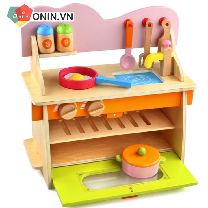 Bộ kệ bếp gỗ cao cấp cho bé