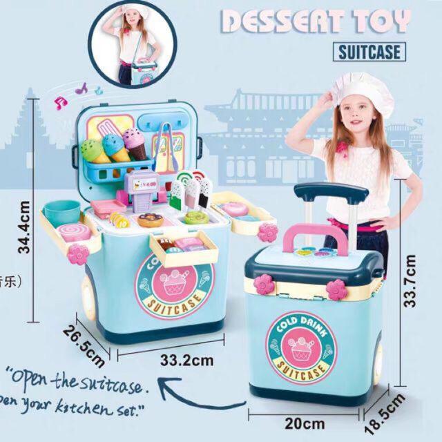 Vali kéo đồ chơi bán kem mini cho bé