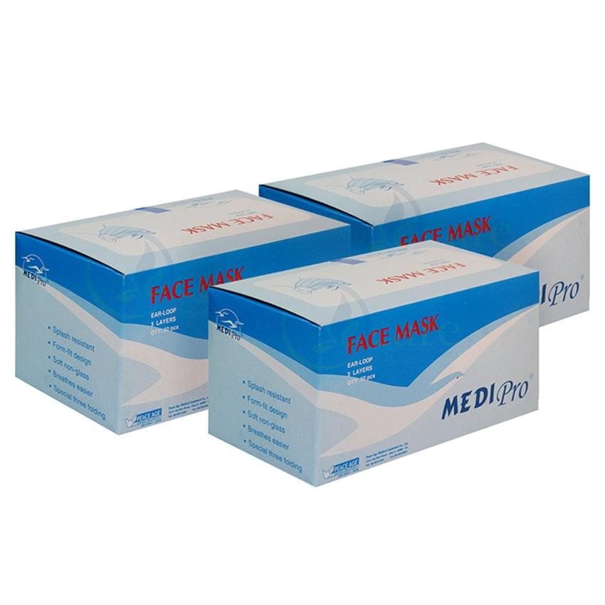Bộ 3 hộp khẩu trang y tế Medi Pro 3 lớp hộp 50 cái x 3 - 3511592 , 853102702 , 322_853102702 , 150000 , Bo-3-hop-khau-trang-y-te-Medi-Pro-3-lop-hop-50-cai-x-3-322_853102702 , shopee.vn , Bộ 3 hộp khẩu trang y tế Medi Pro 3 lớp hộp 50 cái x 3