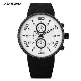 Đồng hồ đeo tay SINOBI dây đeo bằng silicon phong cách thể thao thời trang năng động cho nam