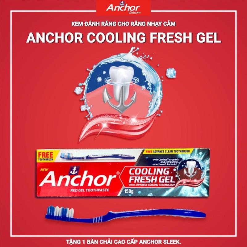 Kem đánh răng cho răng nhạy cảm ê buốc anchor tặng bàn chảy
