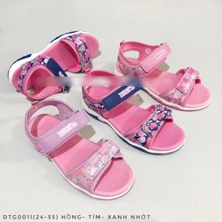 (Size 24-35) Sandal bé gái hai quai dán điều chỉnh DTG 001100