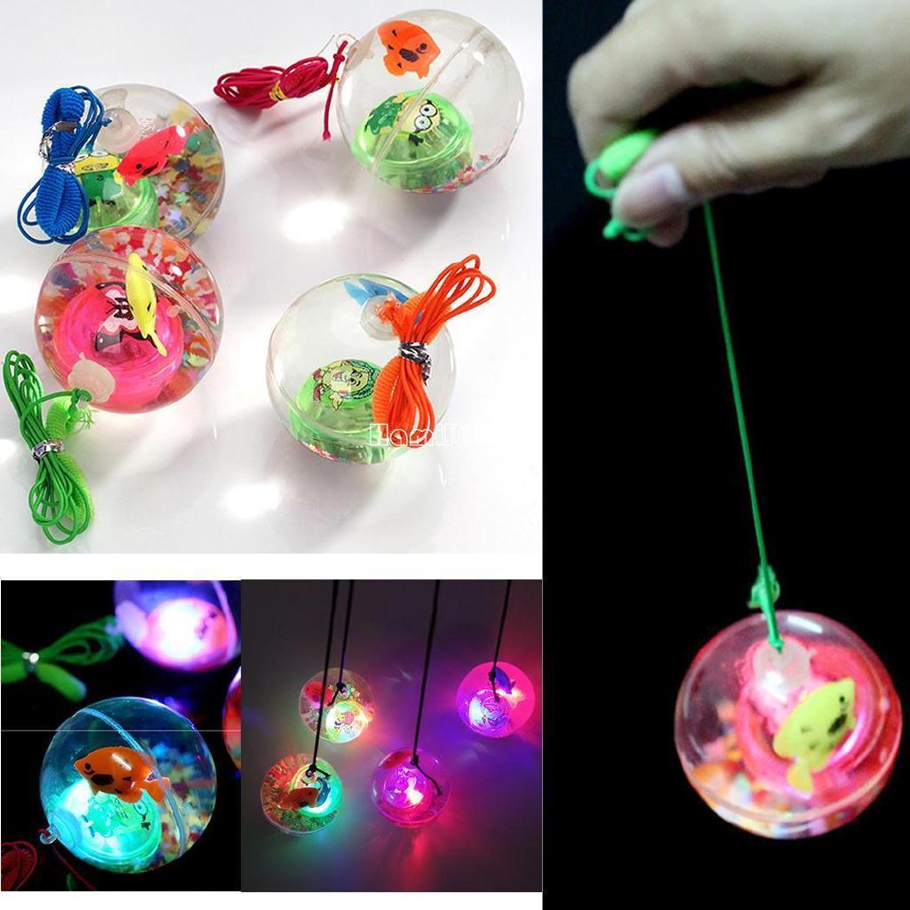 ❤COD Flashing Light-Up Cartoon Fish Bouncy Ball Kids Toys Birthday Party Gift