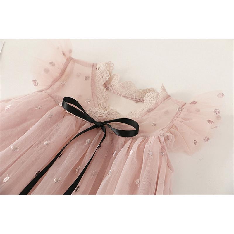 Đầm công chúa phối ren phong cách sang trọng cho bé gái