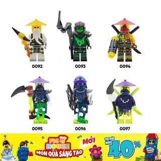 Minifigures Các Nhân Vật Ninjago DECOOL 0092-0097 - Đồ Chơi Lắp Ráp [B12] thumbnail