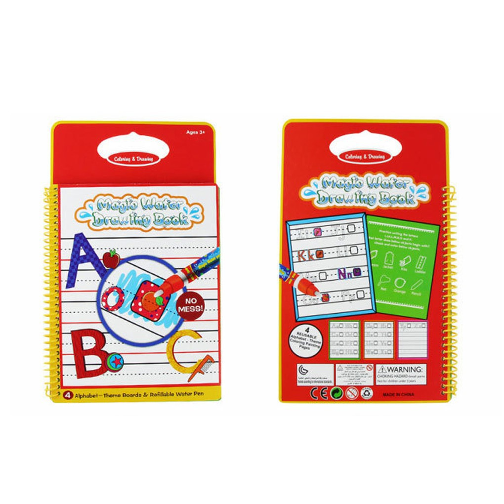 Kids Magic Drawing Book with Pen Coloring Book Letters Water Painting Board