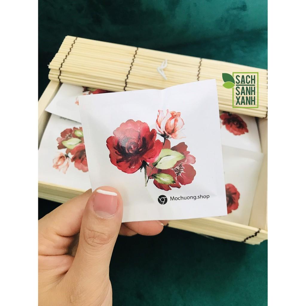 Hộp quà trà bông hồng Mộc Hương - trà hoa hồng thư giãn, dưỡng nhan, hộp quà tuyệt vời cho người phụ nữ bạn thương yêu
