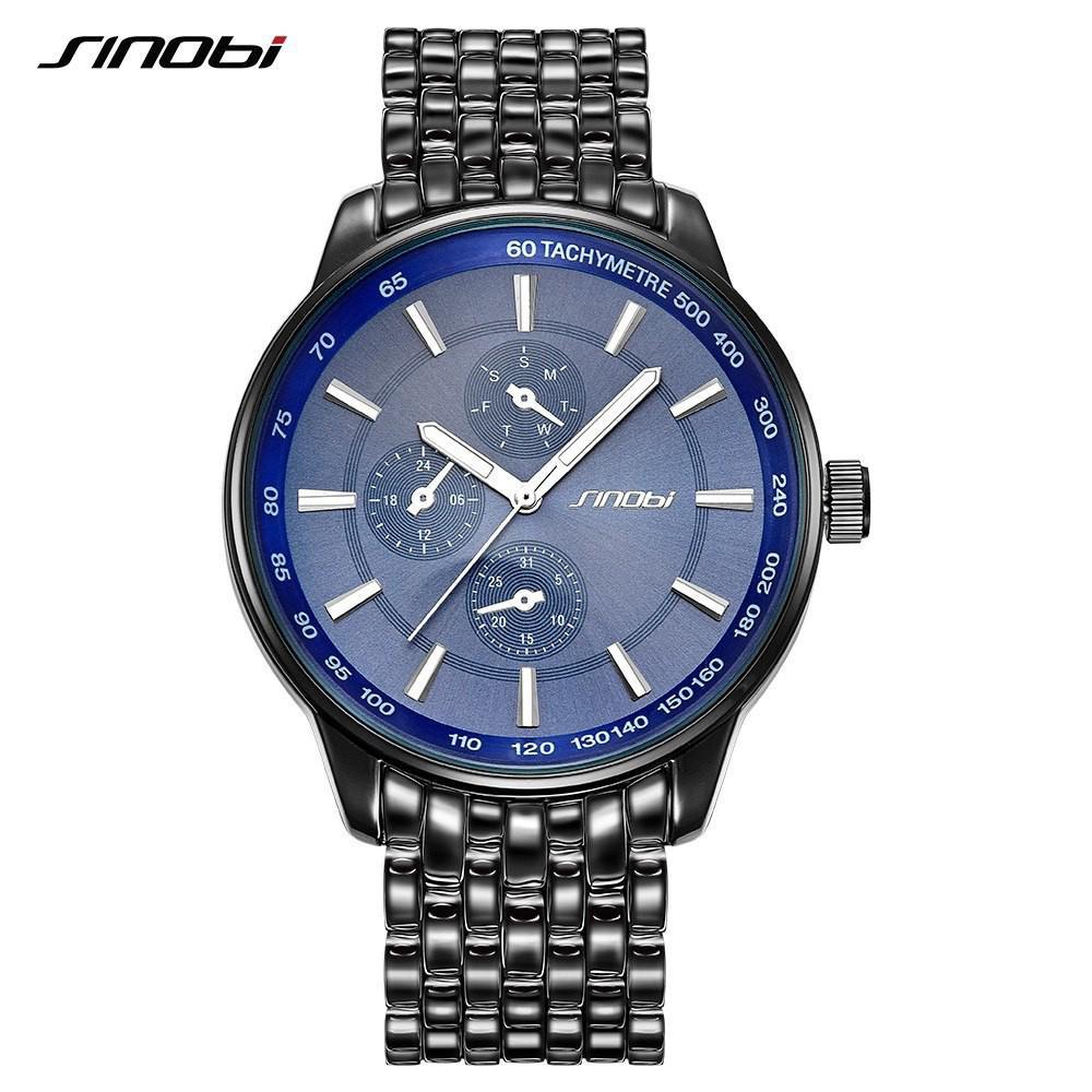 Đồng hồ SINOBI Geneva chất liệu inox thanh lịch sành điệu cho nam