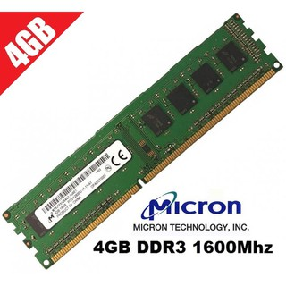 Ram Micron 4GB PC3-12800 DDR3 bus 1600 MHz thumbnail