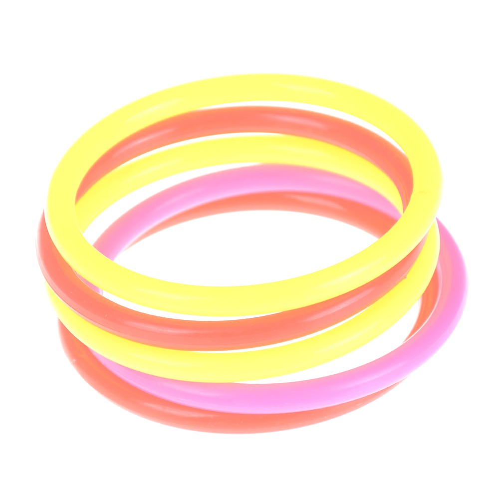 5pcs 8cm Outdoor Colorful Plastic Hoopla Rings Throwing Circles for Children Kid Fun Sport Toy