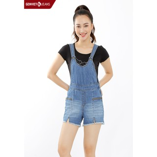 Quần short yếm jeans TY424J506 GENVIET thumbnail
