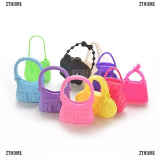 ZTHOME Mix 10pcs Hand Bag Shoulderbag For Barbie Doll Accessory Style Random