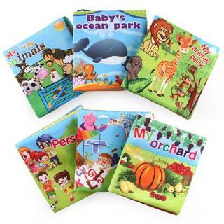 【BKM-KAIN】Sách vải phát triển giác quan, tập nhận biết con vật, chữ số cho bé