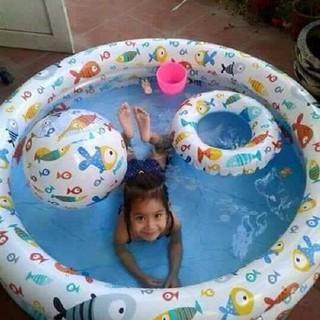 Bể bơi ba tầng ba chi tiết ( kèm phao và bóng )