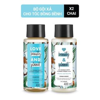 Combo giúp tóc bồng bềnh dầu gội và dầu xả Love beauty and Planet 400ml chai thumbnail