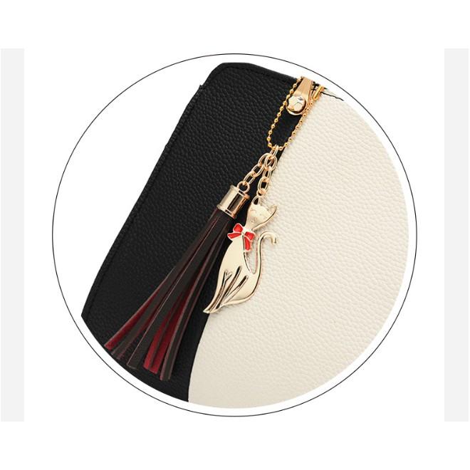 Túi xách nữ công sở da mềm thời trang hàng quảng châu cao cấp móc khóa hồ ly TX39