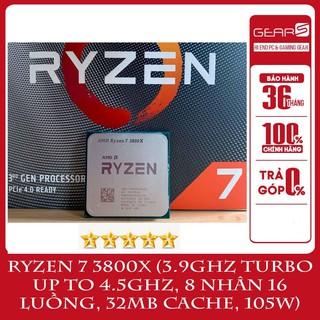 Bộ vi xử lý AMD Ryzen 7 3800X (3.9GHz turbo up to 4.5GHz, 8 nhân 16 luồng, 32MB Cache, 105W) - Full box bảo hành 36T thumbnail