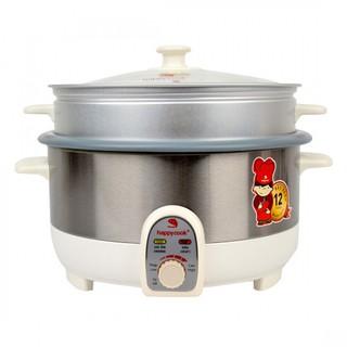 Nồi lẩu điện có xửng Happy Cook 3.5L HCHP-350ST