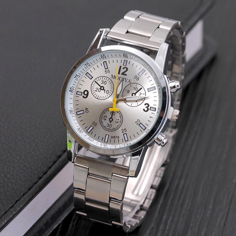 Đồng hồ nam dây kim loại cao cấp Modiya cực đẹp DH103 giá rẻ tiện dụng