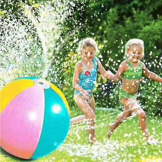 Inflatable Water Spray Beach Ball For Outdoor Lawn Summer Game Children'S Toy Ball Water Jet Ball