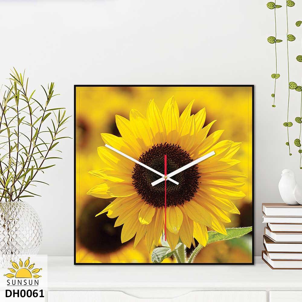 Tranh đồng hồ treo tường vuông | MS DH0061