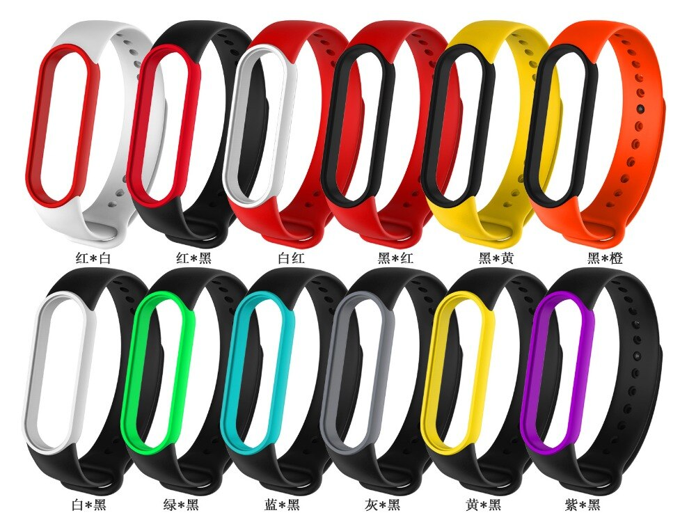 Dây Đeo Thay Thế Chất Liệu Silicon Thiết Kế Nhiều Màu Sắc Cho Xiaomi Mi Band 5 Xiaomi Mi Band 5