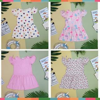 Váy Thun Bé Gái, Tay Nơ, Size 6-10, Hàng Made In Vn, Chất Cotton Mềm Mát, Nhiều Màu Sắc Cho Bé Lựa Chọn