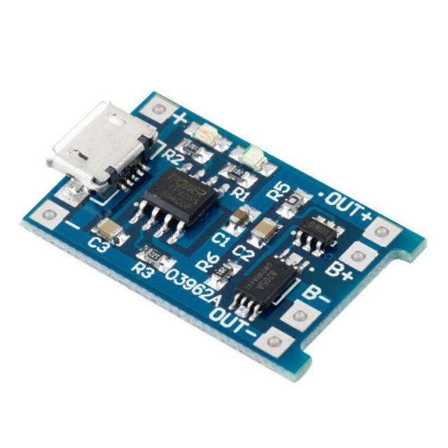 mạch sạc pin TP4056 TC4056 có ic bảo vệ pin 18650 pin Lithium 3.7