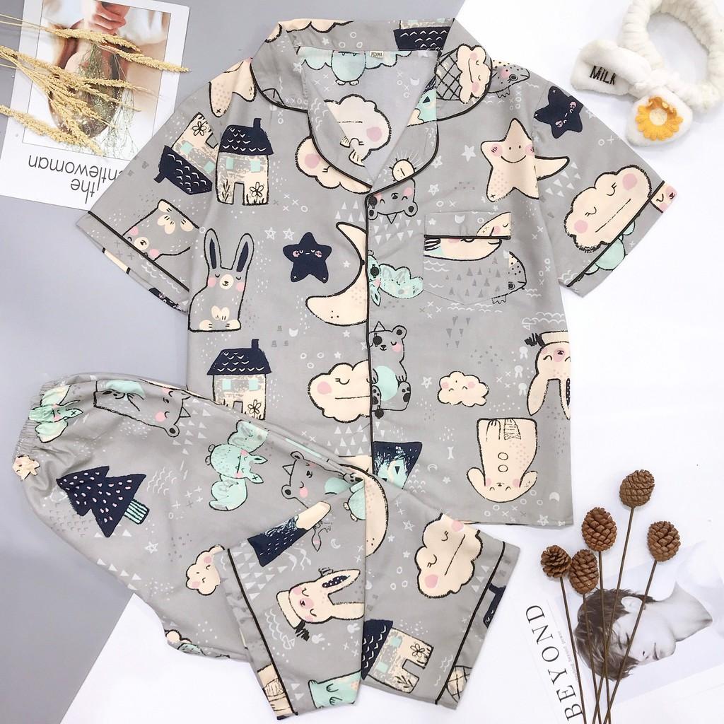 Bộ đồ mặc nhà quần lửng áo cộc tay pijama CỘC LỬNG