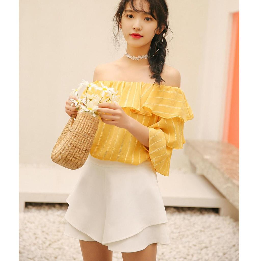 (màu trắng - hình thật) quần short nữ dáng rộng thời trang mùa hè kiểu 2 bèo Savvytongkhoquanao - 3144913 , 1307496928 , 322_1307496928 , 180000 , mau-trang-hinh-that-quan-short-nu-dang-rong-thoi-trang-mua-he-kieu-2-beo-Savvytongkhoquanao-322_1307496928 , shopee.vn , (màu trắng - hình thật) quần short nữ dáng rộng thời trang mùa hè kiểu 2 bèo Sav