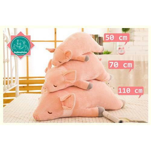 Lợn bông nằm loại 70cm